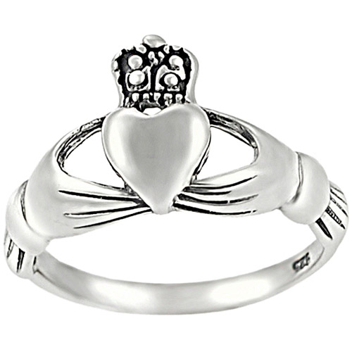 Brinley Co. Celtic Claddagh Ring in Sterling Silver