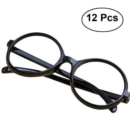 4c25441296 12pcs Black Glasses Frame Harry Potter Wizard Nerd Round Black Frame  Glasses No Lenses Costume Eyewear - Walmart.com