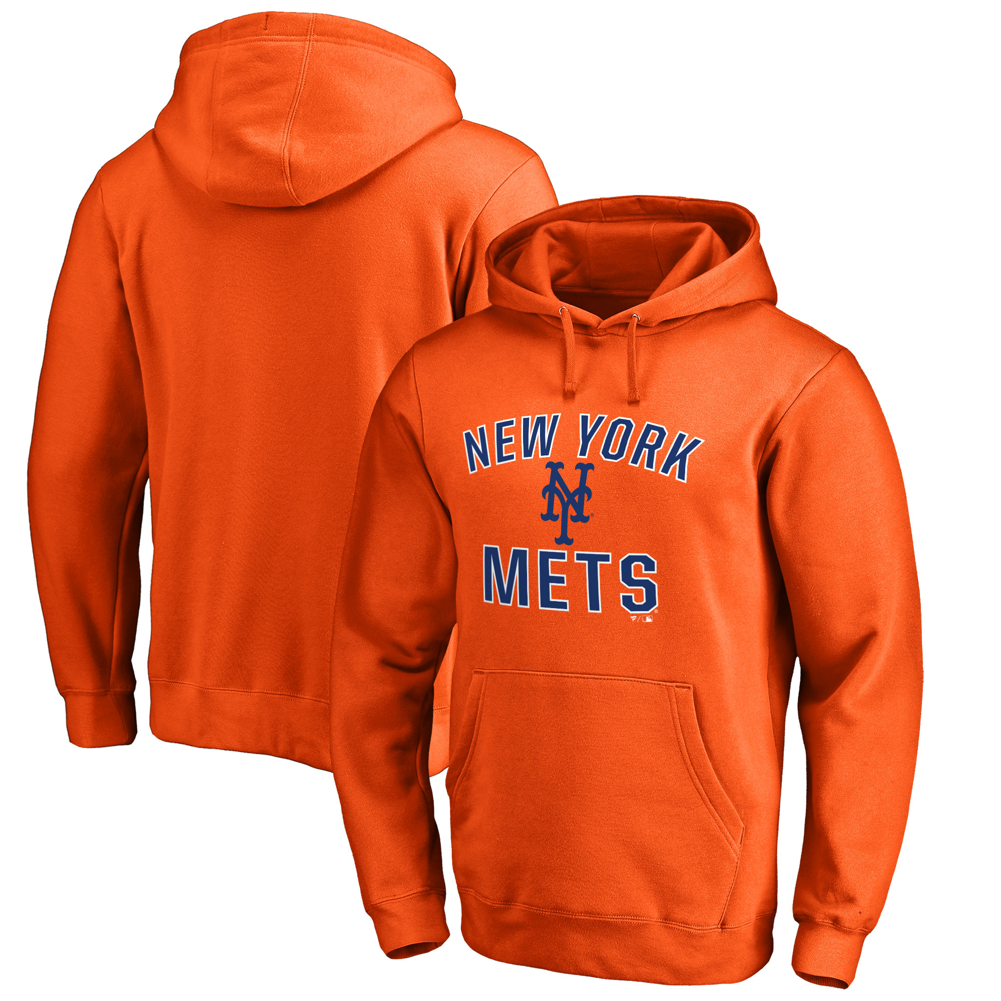 Men's Orange New York Mets Victory Arch Pullover Hoodie