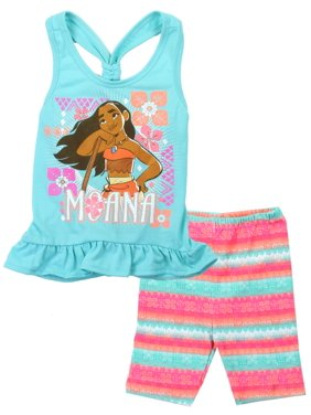 Disney Toddler Girls' Moana Bike Shorts Set