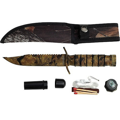 Survivor Stainless Steel Camo Survival Knife HK-695CA