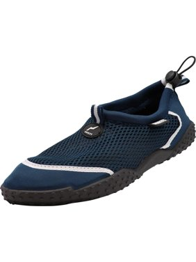 Norty Mens Water Shoes Aqua Socks Surf Yoga Exercise Pool Beach Swim Slip On NEW, 40977 Black/Grey / 11D(M)US
