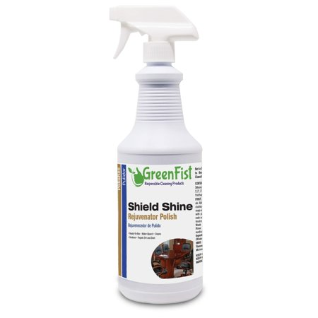 Shield Shine Rejuvenator Multipurpose Polisher & Sealer [ Vinly,Leather,Plastic,Rubber,Wood,Metal,Chrome,Fiber Glass and Others],32 Fluid Ounce Spray