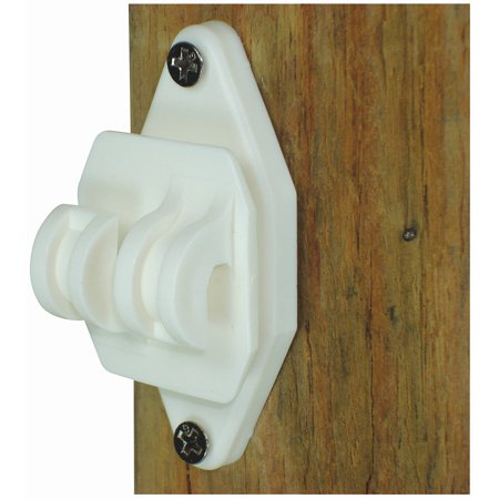 Field Guardian Wood Post, Nail on Insulator for Hi-Tensile, White, 25-Pack