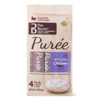 (3 pack) Pure Balance Puree Gourmet Cat Treats with Real Chicken, 4 Pack