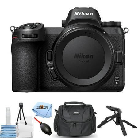 Nikon Z6 Z 6 Mirrorless Digital Camera (Body Only) + Tripod + Gadget Bag Bundle
