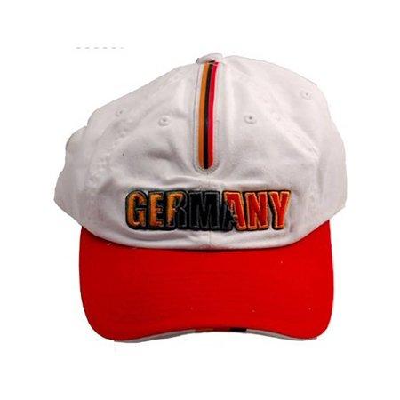World Cup Germany Vintage Adjustable Buckle Soccer Cap- W/ Flag strip