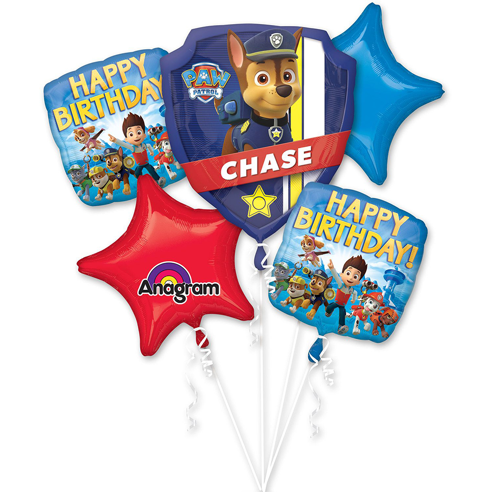 Paw Patrol Balloon Bouquet - Party Supplies