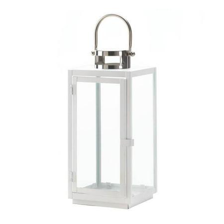 - White Lantern Candle, Carrel Decorative Hanging Outdoor Large Lantern