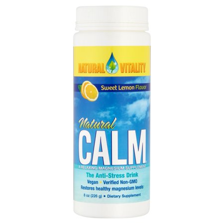 Natural Vitality Sweet Lemon Flavor Natural Calm Magnesium Dietary Supplement  8 Oz