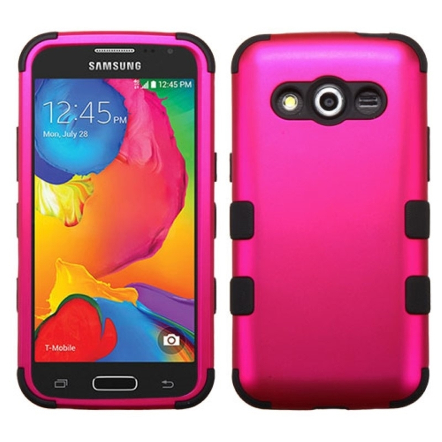 Insten Hard Hybrid Rugged Shockproof Cover Case For Samsung Galaxy Avant - Hot Pink/Black