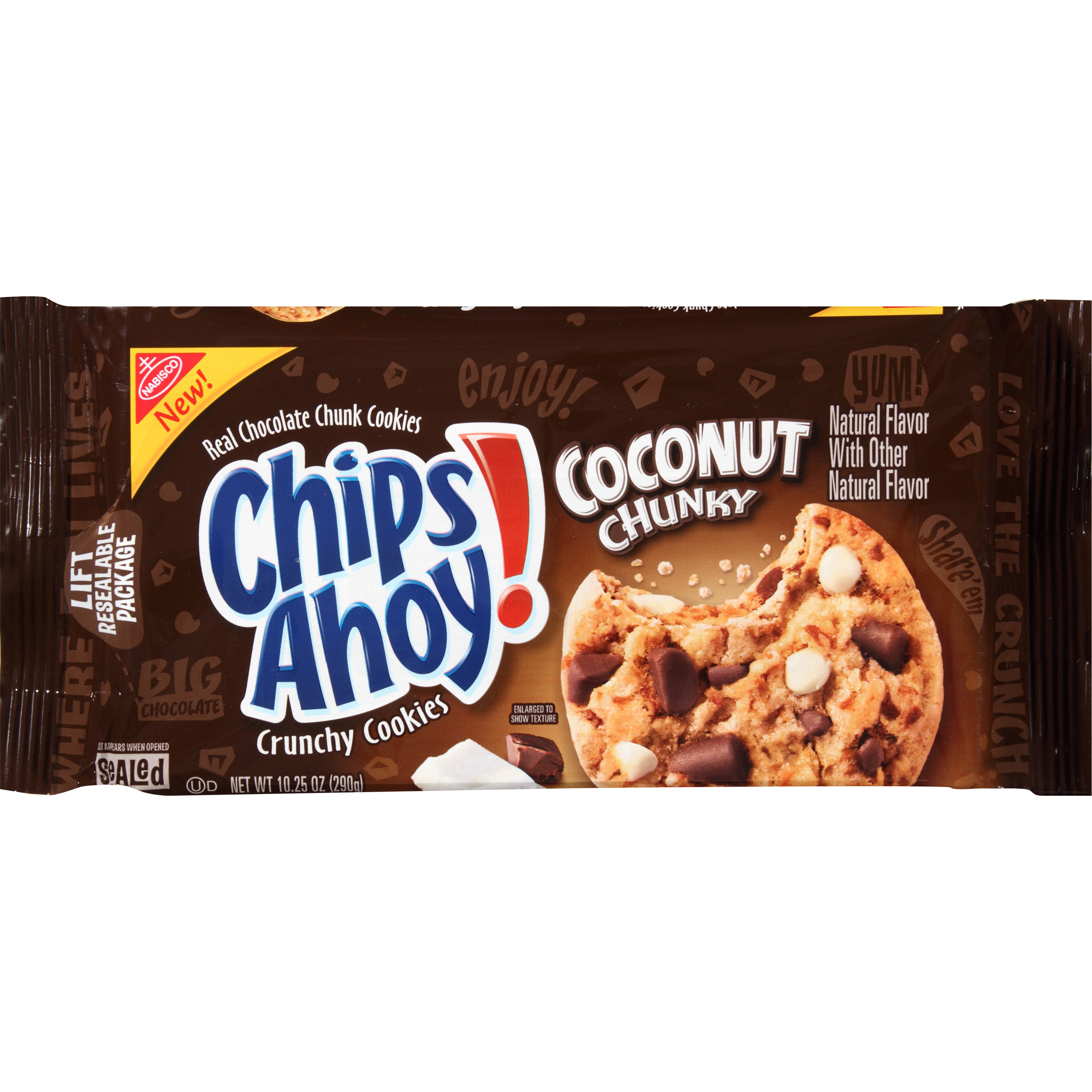 Nabisco Chips Ahoy! Coconut Chunky Chocolate Chunk Cookies, 10.25 oz