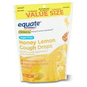 Equate Sugar Free Honey Lemon Cough Drops Value Size with Menthol, 140 Count