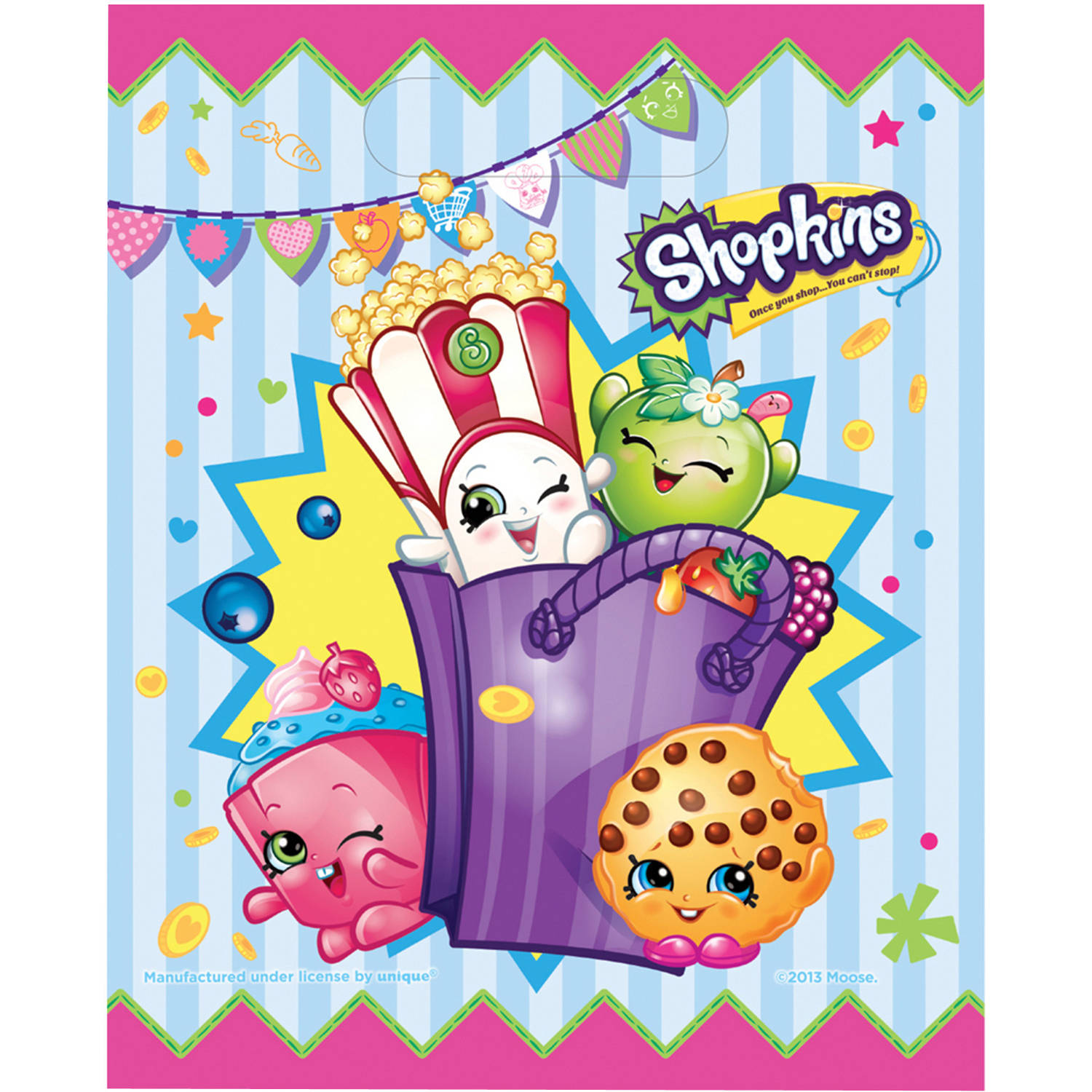 Shopkins Favor Bags, 8ct