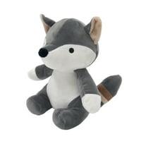 Bedtime Originals Little Rascals Plush Fox - Foxy - Gray, White, Animals