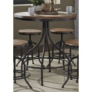 Liberty Furniture 179-PUB3636 Vintage Dining Series Pub Table, Distressed Metal Finish by Liberty Furniture
