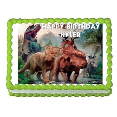 Sweet Bakery Cafe - 1/4 Sheet Walking With Dinosaurs Edible Frosting Cake Topper*