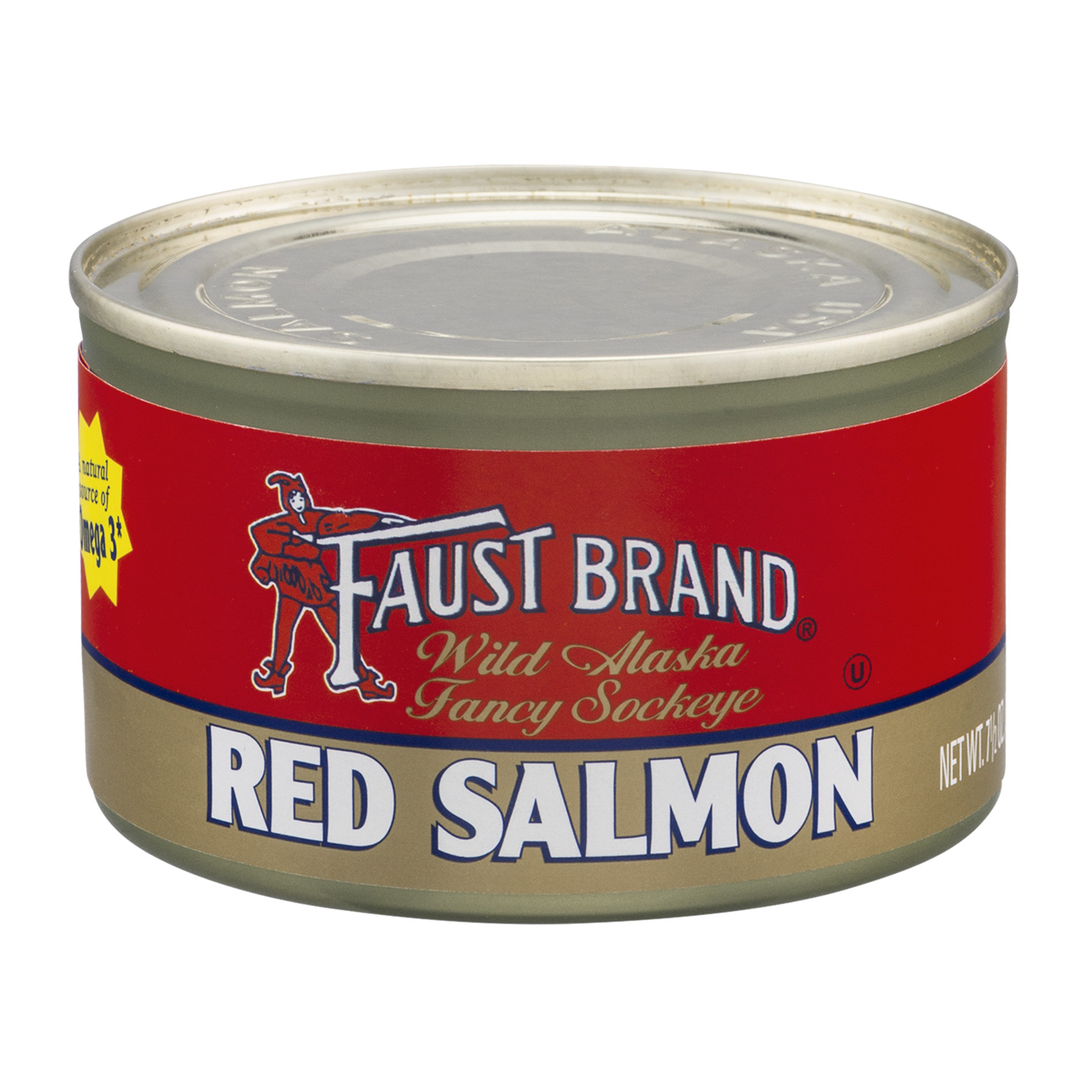 Faust Brand Red Salmon, 7.5 OZ