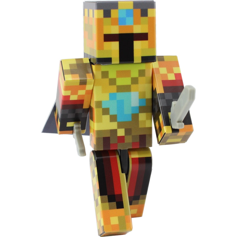 Gold Knight Action Figure Toy, 4 Inch Custom Series Figurines by EnderToys