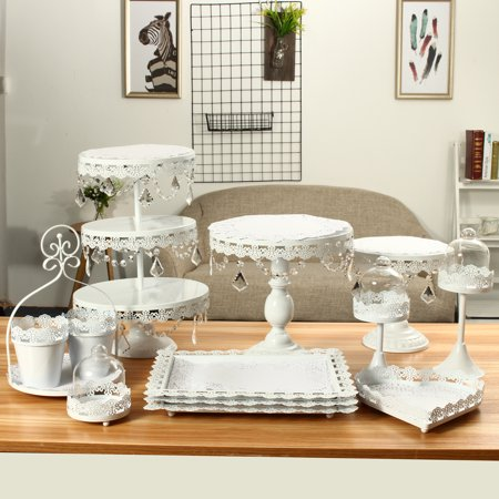 Crystal Metal Cake Holder Cupcake Stand Dessert Display Stand  Birthday Wedding Party Display](Wedding Cake Making Supplies)