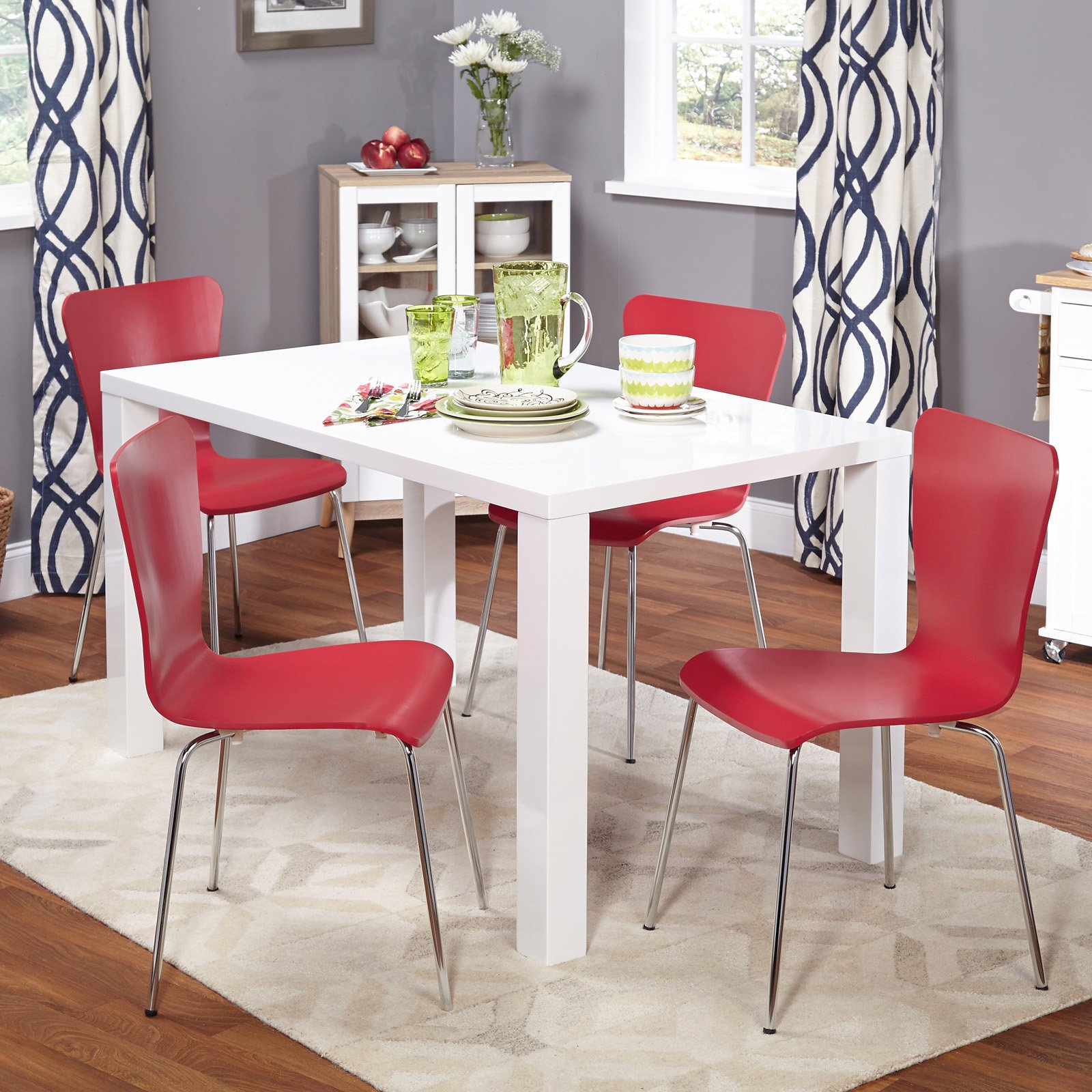 Felix 5-Piece Dining Set, Multiple Colors