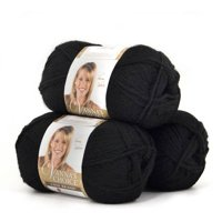 Lion Brand Yarn Vanna's Choice, 3-Pack, 100 Percent Acrylic, Multiple Colors