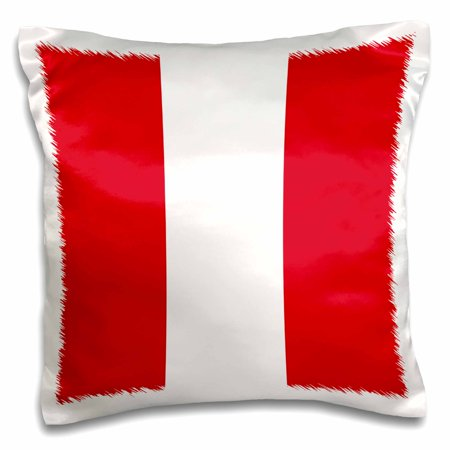 3dRose Flag of Peru - Peruvian red and white stripes - South America American country of the world souvenir - Pillow Case, 16 by 16-inch