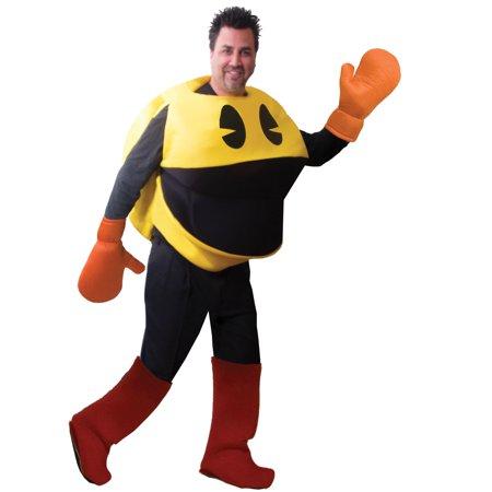 Pac-Man Deluxe Costume In Bag Adult Standard