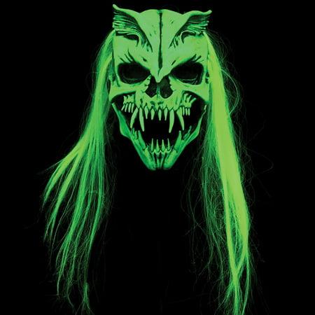 UV Blacklight Nuclear Waste Mask - Halloween Costume Lime Green Glow In Dark
