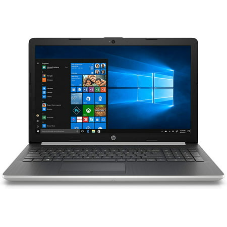 HP 15 Home Office Laptop Silver (Intel i7-8565U 4-Core, 12GB RAM, 256GB SSD, 15.6