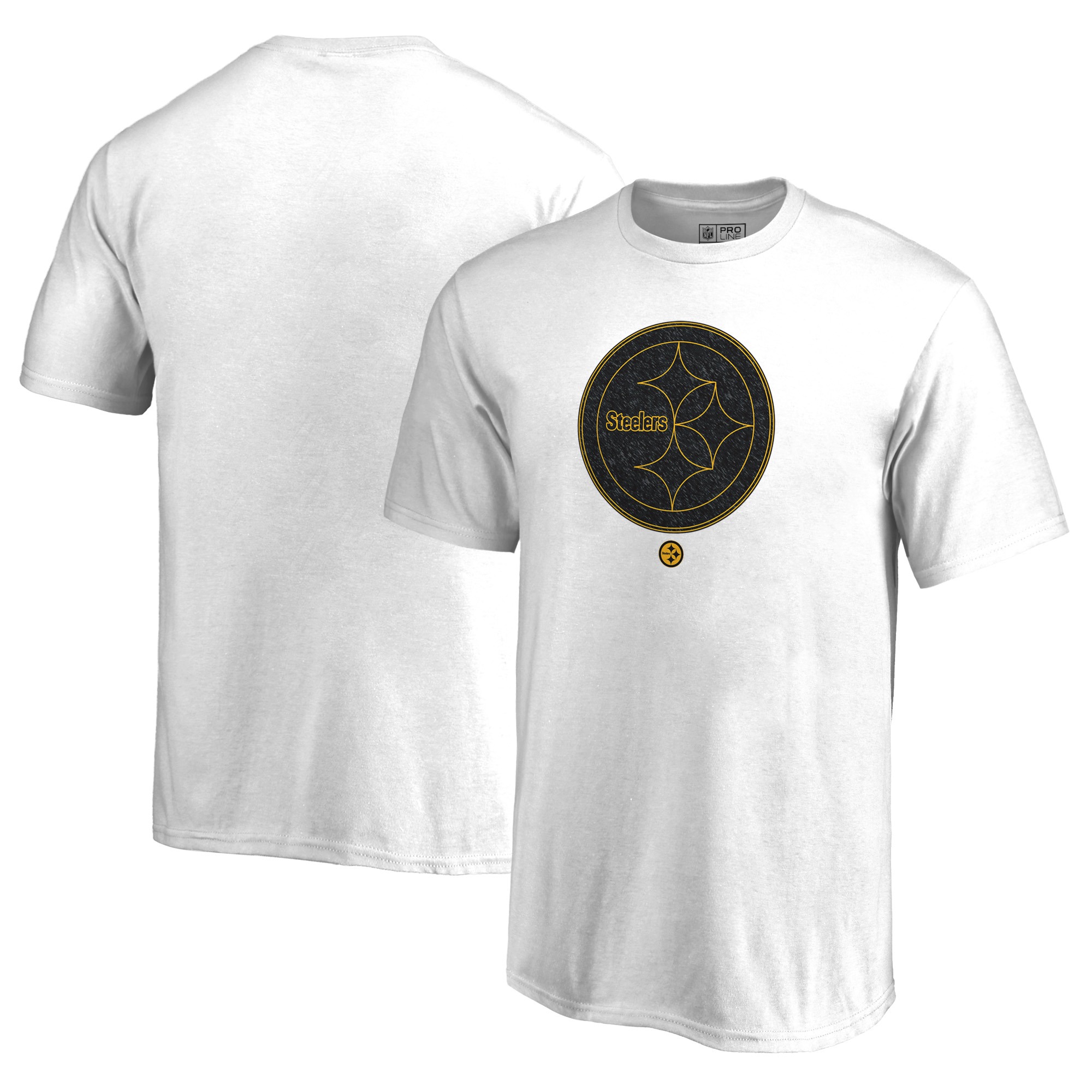 Pittsburgh Steelers NFL Pro Line by Fanatics Branded Youth Training Camp Hookup T-Shirt - White