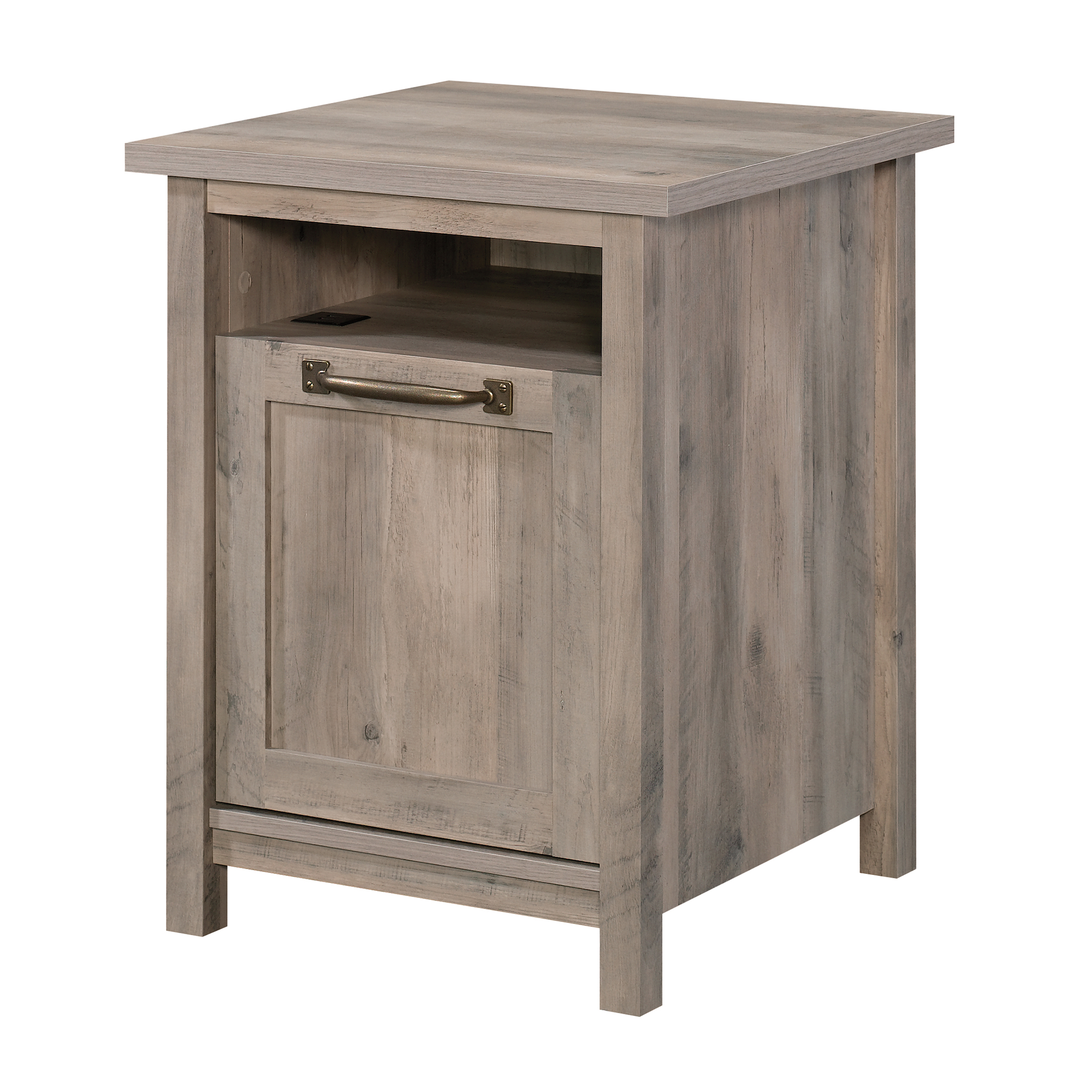 Rustic White Finish Better Homes Gardens Modern Farmhouse End Table Nightstand With Usb Home Kitchen Furniture