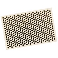 """Honeycomb Ceramic Block Square with 374 Holes (2 mm Diameter) 2"""" x 3"""" x 1/2"""" Jewelry Soldering Tool - SOLD-0059"""