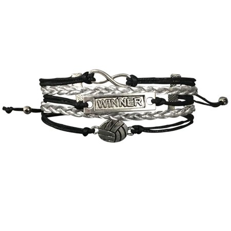 Volleyball Bracelet- Girls Volleyball Jewelry - Perfect Volleyball Gifts for Players & Teams](Volleyball Charm Bracelet)