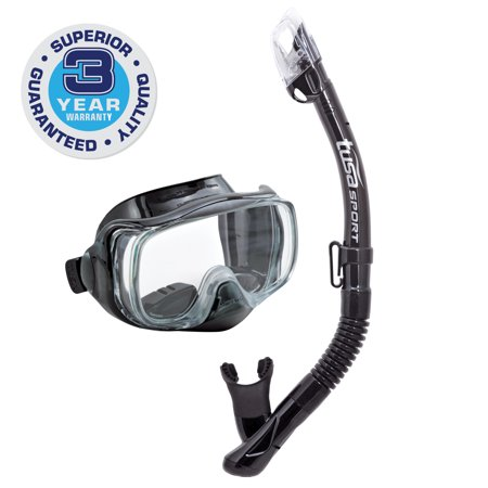 TUSA Sport Adult Imprex 3D Purge Mask and Dry Snorkel Combo for $<!---->