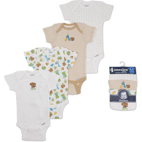 Gerber Newborn Baby' 4-pack Assorted Sho
