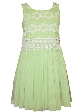 e2e0a93ee7 Product Image Bonnie Jean Little Girls Lime Lace Tulle Dress 6
