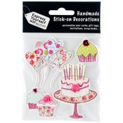 Express Yourself MIP 3D Stickers-Party Cakes & Balloons