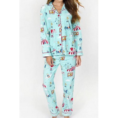 98550f4617 Pj Salvage - PJ Salvage NEW Aqua Blue Womens Size XL Circus Pajama Flannel  Sets - Walmart.com