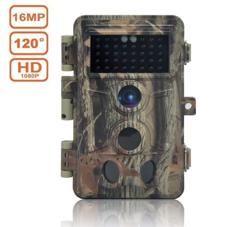 Digitnow! Trail Camera 16MP 1080P HD Waterproof, Wildlife Hunting Scouting Game Camera with 40Pcs IR LED Infrared Night Vision Up to 65FT /20M, Surveillance Camera 130° Wide Angle 120° Detection