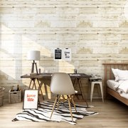 3D Wood Wallpaper Waterproof Wallpaper Self-Adhesive Removable Wood Peel and Stick Wallpaper Decorative Wall Covering Vintage Wood Panel Interior Film for Christmas Decoration