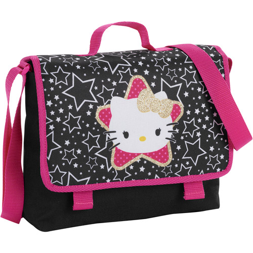 Hello Kitty Mini Messenger Bag in Black
