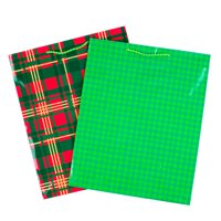 Product Image Hallmark Large Gift Bags Red And Green Plaids Pack Of 2