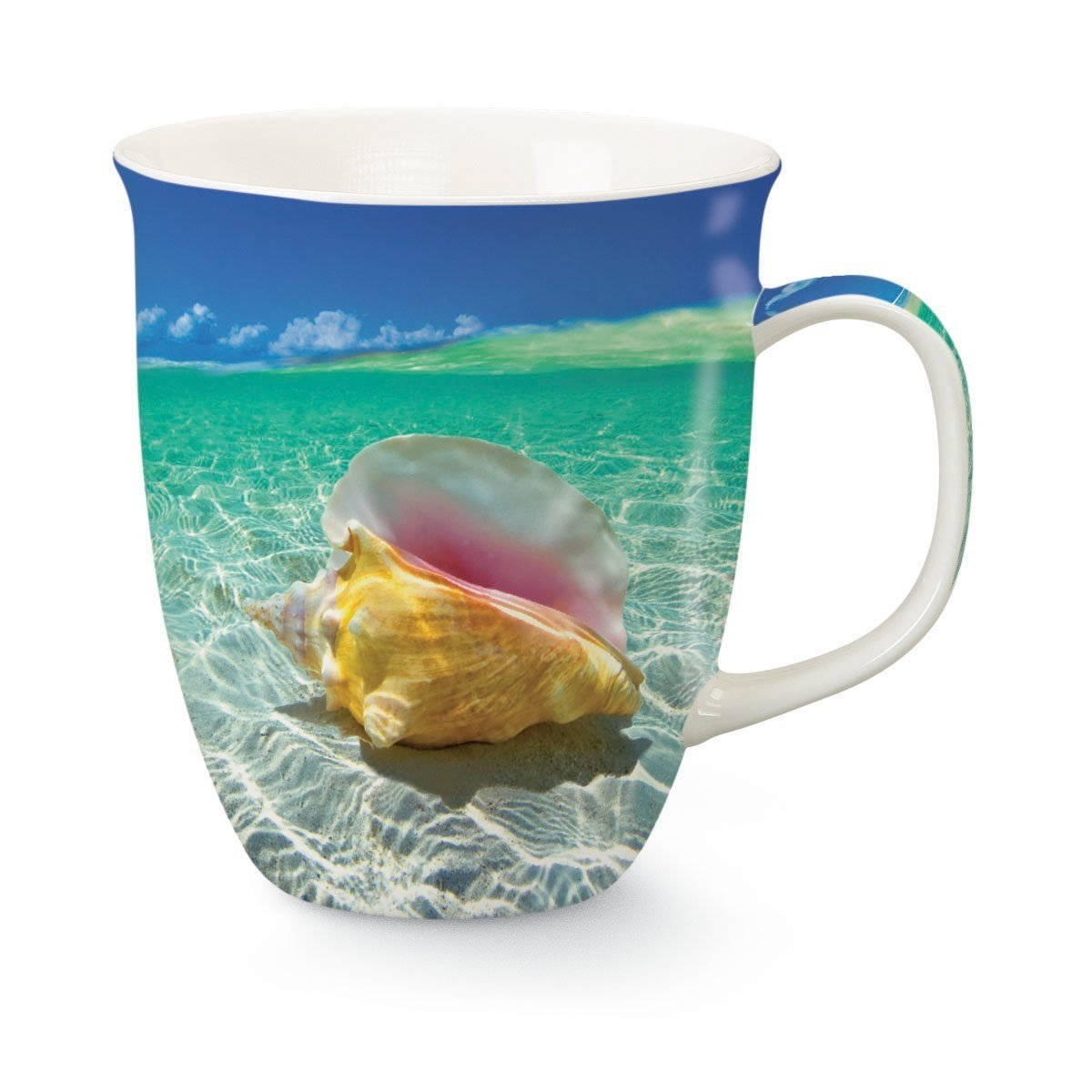 Day Dreaming Coastal Conch Shell 16 Oz Coffee Latte Tea Harbor Mug Cape Shore