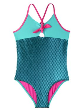 312b277d8828 Product Image Metallic Mermaid Scale One-Piece Swimsuit (Little Girls & Big  Girls)
