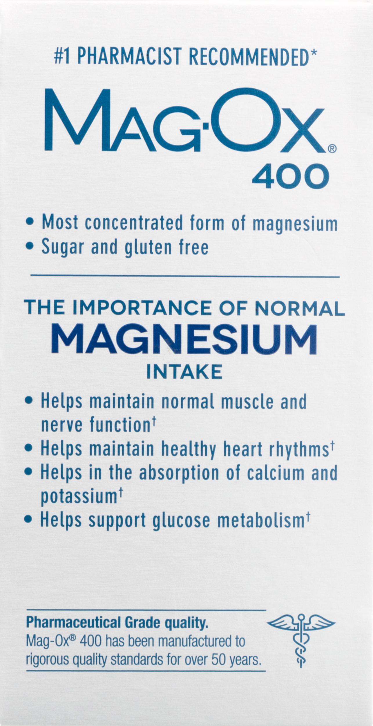 Magox 400 dietary supplement 120ct walmart geenschuldenfo Choice Image