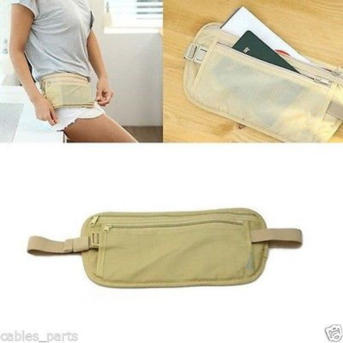 Blocking Money Belt Travel Sport Pouch Hidden Passport ID Holder Compact Security Money Waist Stash Belt Bag