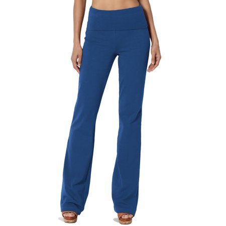 97c125a857 TheMogan - TheMogan Women's PLUS Thick Stretch Cotton Foldover Waist  Bootcut Yoga Pants - Walmart.com