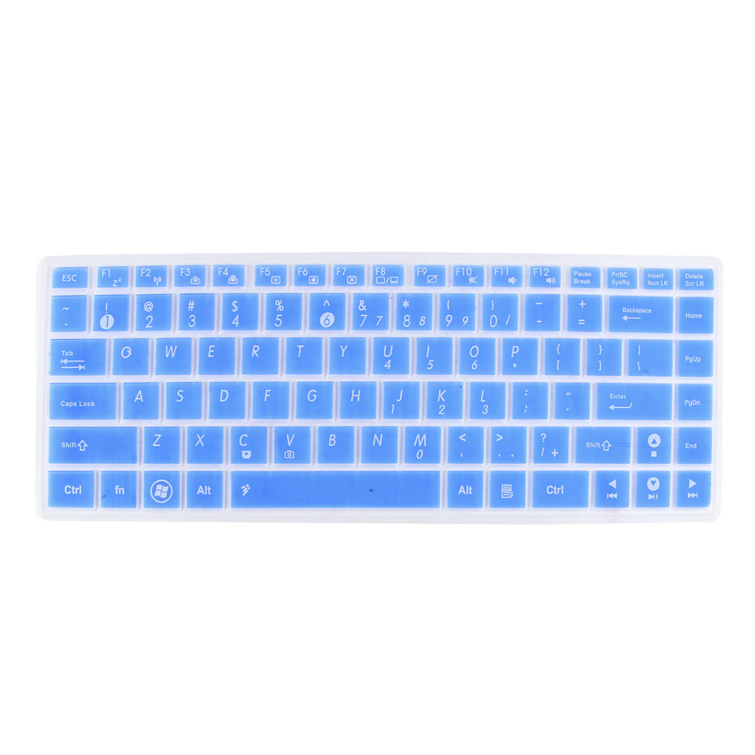 Unique Bargains Notebook Laptop Keyboard Film Guard Blue Clear for Asus X43S/X84X44/X45V/K45/A84