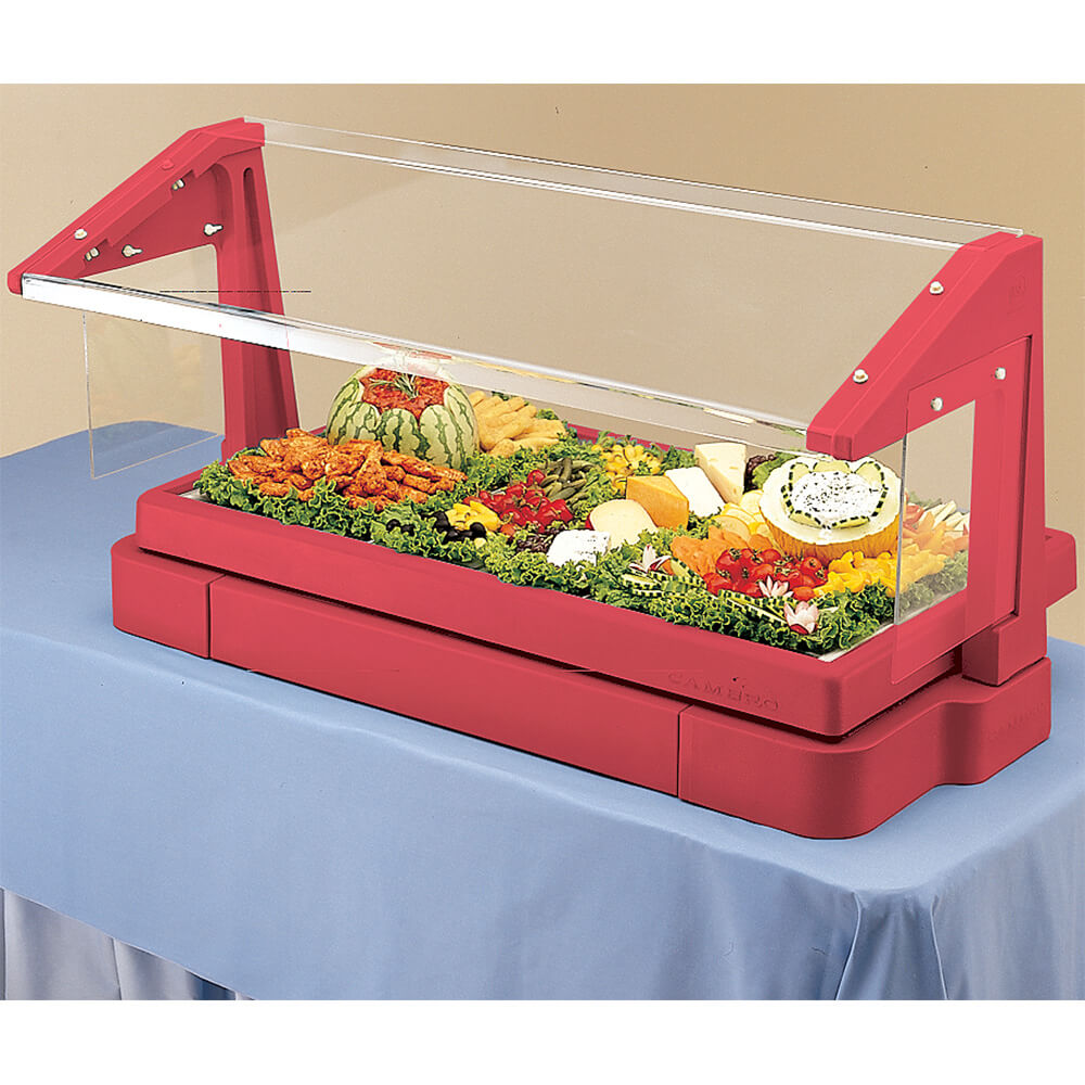 Cambro 6ft Table Top Buffet Bar With Sneeze Guard Hot Red Bbr720